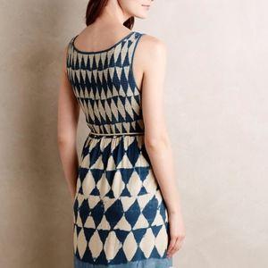 Anthropologie Maeve Castalia Dress Blue